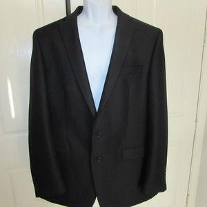 Men's Black Van Heusen Suit Jacket 46 Long